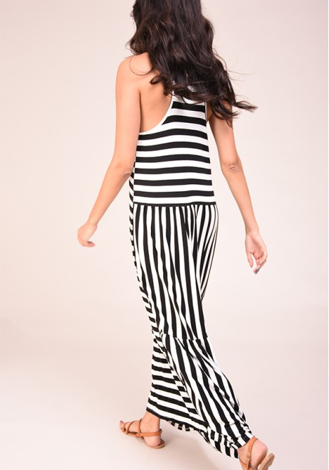 Obleka Maxi with Stripes